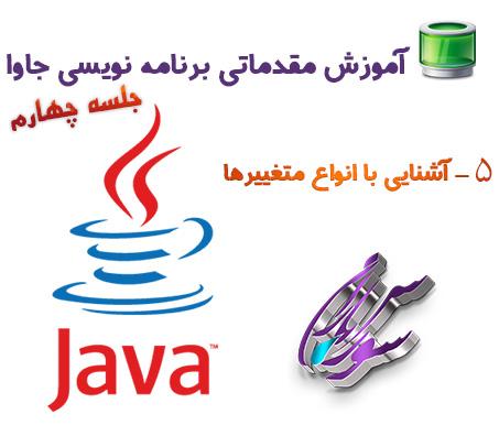 آشنایی با انواع متغییرها در برنامه نویسی جاوا