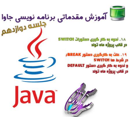 آموزش کار با دستورات switch و break در برنامه نویسی جاوا
