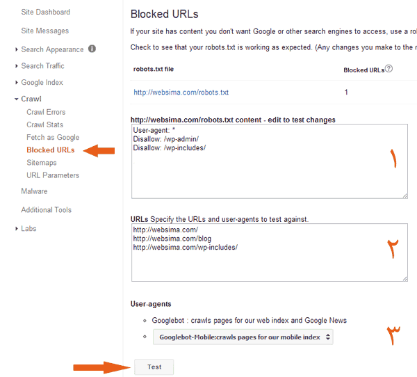 Blocked-urls