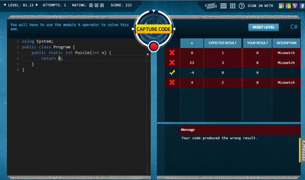 آموزش برنامه نویسی با Code Hunt