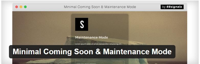 Minimal Coming Soon & Maintenance Mode